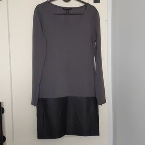 Grey full sleeve dress